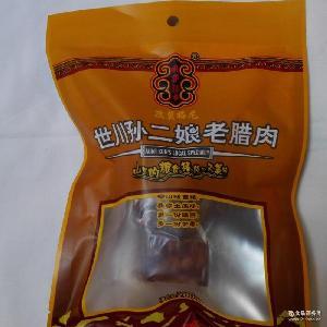 四川特产马边彝族孙二娘土猪后退五花腊肉200g装休闲小吃零食