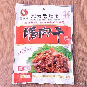 特色川味腌制腊肉多种口味腊肉干批发 鹏城源厂家直销正宗 120g