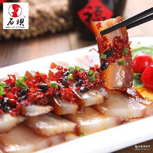 厂家直销 石坝五花腊肉湖南特产湘西农家柴火烟熏米糠腊肉