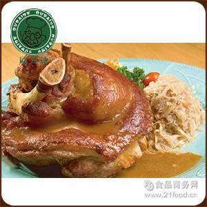 德式腌后肘1.7kg左右 德国猪肘腌肉肘子烤猪肘猪手 欧百德 需称重
