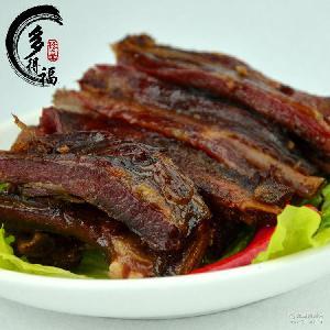 柴火烟熏腊排骨 农家腊肉 多得福湖南特产 特色排骨 优质腊肉