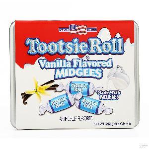 休闲零食糖果礼盒 美国TootsieRoll香草牛奶味进口软糖656g一盒