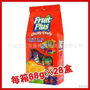 进口马来西亚糖果88g Plus果超水果软糖喜糖休闲零食批发 Fruit