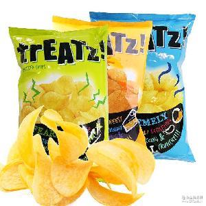 马来西亚脆滋多口味香脆薯片批发亚膨化休闲零食150g 全国总代