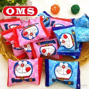 进口马来西亚 OMS 散装500g约79个 哆啦A梦/Kitty棉花糖 夹心软糖