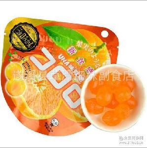 批发日本悠哈UHA味觉糖 *桔子橘子果汁软糖40g*24袋/组