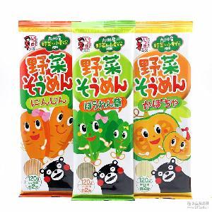 日本进口 胡萝卜 南瓜味素食拉面120g 菠菜 袋 五木儿童蔬菜面条