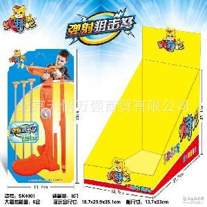 星迪糖趣吧弹射狙击弩玩具糖果8支/盒 儿童休闲食品创意玩具批发
