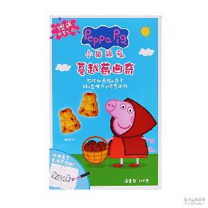 单盒 蔓越莓饼干早餐儿童 蔬菜 曲奇饼干 牛奶 小猪佩奇 120克
