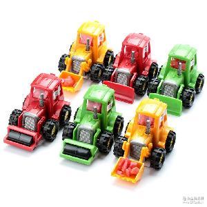 进口现货男孩玩具糖果挖土车惯性车休闲食品创意小玩意外贸玩具