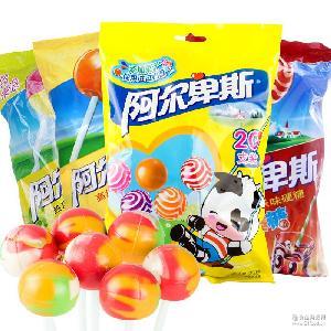 阿尔卑斯 水果牛奶味硬糖 棒棒糖20支装200g/袋 袋装糖果 批发