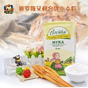 俄罗斯进口艾利客高筋粉饺子粉披萨面包粉小麦面粉烘培原料2kg