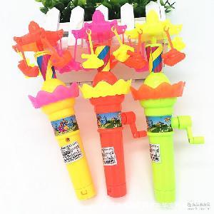 酷迪亚玩具糖果系列 超级旋风超速旋风含糖果 闪光手摇玩具旋风