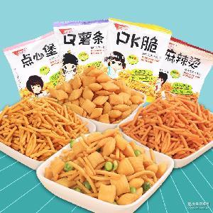 五味园PK脆5斤 点心堡 Q薯条 休闲膨化类零食品 袋 PK脆 麻辣烫