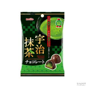 meito名糖产业 53g 宇治抹茶酱心夹心巧克力 日本进口零食品