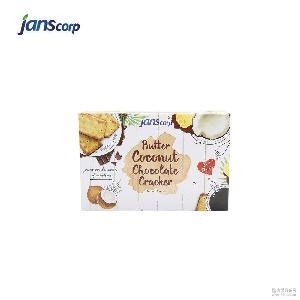 印尼原装进口Jans奶油椰子巧克力饼干 盒装独立小包夹心饼干批发