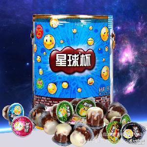 休闲零食食品巧克力饼干批发 1000g过年年货甜甜乐星球杯桶装