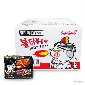整箱】韩国进口7月产辣三养火鸡面140g/袋 【 干拌面速食泡面
