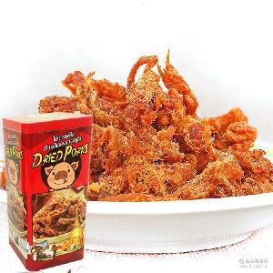 泰式猪肉条128克红色铁盒装 猪肉干好吃的食品一手货源 澳门进口