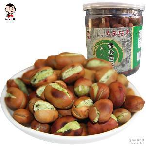 绿心蚕豆 云南保山特产坚果炒货休闲食品批发年货 滇二娃 瓶装