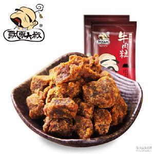 一件代发飘零大叔牛肉粒100g牛肉干特产风味小吃休闲零食品批发