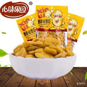 厂家直销心味果园-150g蟹黄味蚕豆 坚果炒货休闲食品全国招商批发