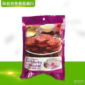 肉类熟食休闲小零食80g尊杰猪肉脯沙爹味肉食小吃腌制猪肉脯