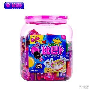 一箱(6瓶)比巴卜泡泡糖675g 约150粒柔软泡泡糖特大大泡糖果
