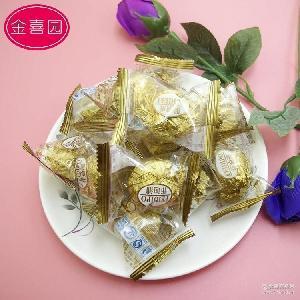 散装巧克力喜糖 散称休闲食品零食 批发菲迪浦金沙果仁巧克力糖果