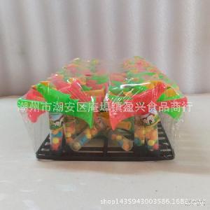 儿童玩具糖果批发 喇叭鸟口哨插管玩具糖 彩色水果味压片硬糖