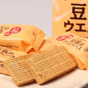 布尔本bourbon豆乳威化饼干16枚入118g*12袋/箱 日本