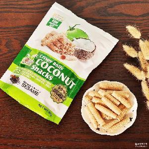 80g 椰子日记 小零食 椰奶芝麻鸡蛋卷饼干 椰子卷 泰国进口