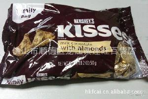 杏仁巧克力金粒510g 金色 美国好时巧克力Kisses 糖果巧克力