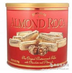 乐家roca 糖果巧克力 Roca 乐家杏仁糖 Almond 美国 992g 桶装