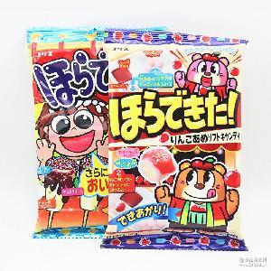 克力沾酱香蕉味软糖/苹果味34g 日本进口食玩糖果 可利斯牌巧