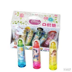 口红糖好心情水果硬糖棒棒儿童趣味冰雪彩色玩具糖果创意礼物