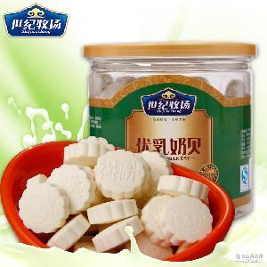 乳醇香世纪牧场优乳奶贝300g瓶装内蒙特产奶酪儿童零食干吃牛奶片