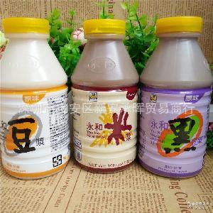 永和豆浆进口台湾食品 香醇浓厚原味豆浆瓶装300ml休息饮料批发