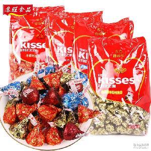 好时之吻巧克力1kg约210颗KISSES婚庆喜糖散装糖果kisses满包邮