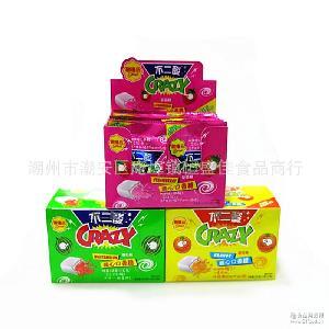 水果味酱心口香糖泡泡糖果儿童零食品 酸喳品不二酸 30盒*20包