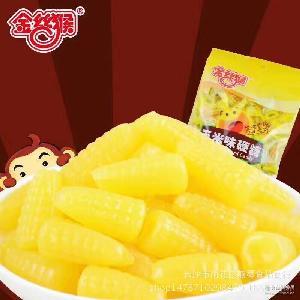 办公室休闲零食  有喜事选金丝猴 金丝猴160g玉米味硬糖 婚庆糖果