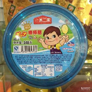 不二家牛奶棒棒糖 糖果香醇味+乳酸味348g/桶零食