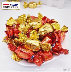 韩世原味奶糖草莓味奶糖软糖500g零食婚庆结婚喜糖散装糖牛奶糖