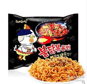 韩国食品三养火鸡面140g*5包超辣速食鸡肉拉泡面干拌面方便面批发