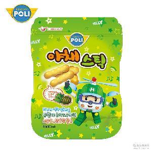 韩国进口变形警车珀利儿童蔬菜棒饼干宝宝休闲零食磨牙棒50g