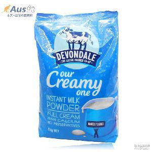 澳洲代购直邮德运Devondale全脂牛奶粉中老年人成人学生奶粉 1kg