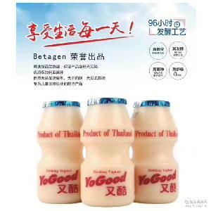 又酷原味乳酸菌饮料85ml*4/组泰国原装进口酸奶 YoGood
