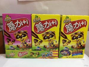 夏日蘸酱版 蘑力1+1巧克力饼干42g/盒 儿童零食 休闲食品批发