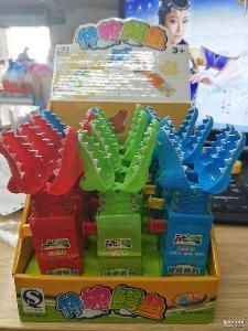 玩明糖玩具糖果伸缩系列伸缩鳄鱼水果味软豆糖雅尚食品公司出口
