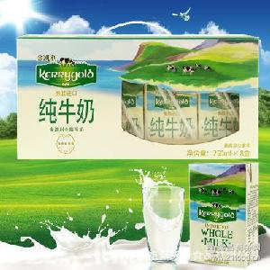 爱尔兰原装进口牛奶 礼盒装250ml*8盒 金凯利全脂牛奶